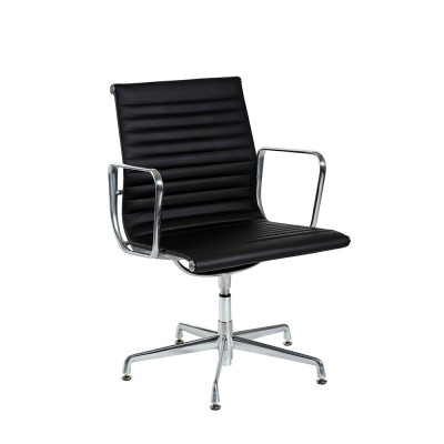 T-Luxa CLASSIC Visitor with arms Back Black Leather