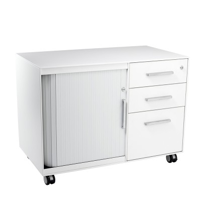 Celia Mobile CADDIE 900 wide Satin white/white tambour
