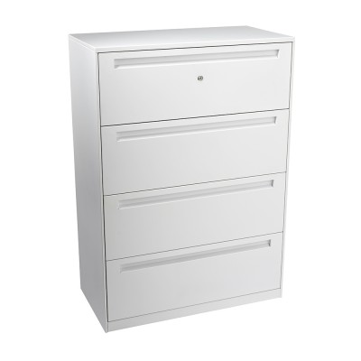 Bo Lateral file 4 drawer 1275H x 900W x 460D white