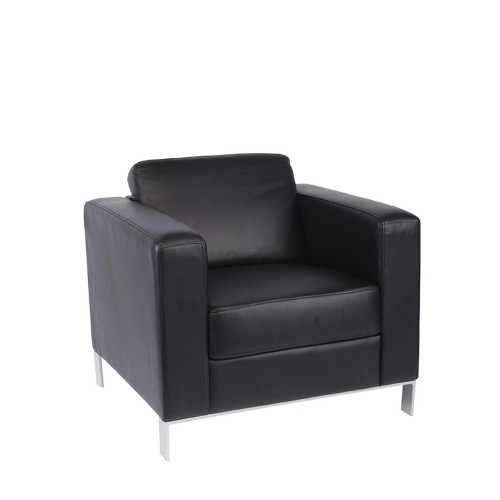 901-S 1 seater Black Leather 1
