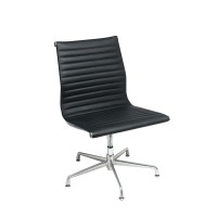 T-Luxa CLASSIC Visitor NO arms Back Black Leather