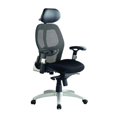 Bob 201H High back with head rest Black mesh