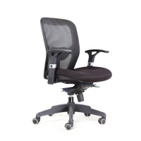 Bob 203 Medium back chair Black mesh