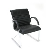 Active Visitor Black Leather